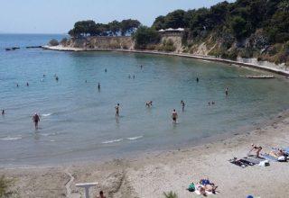 Sand beach in Split Friule beach