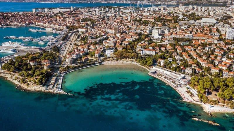 Adriatic sea Split Croatia Znjan Beach